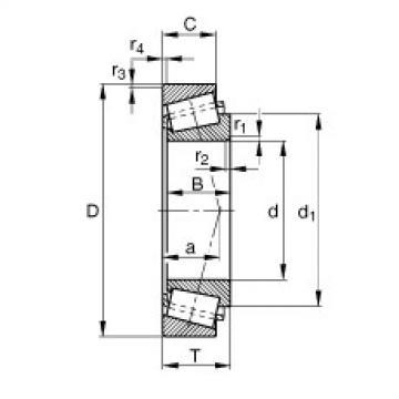 Rodamiento KL44643-L44610 FAG