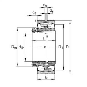 Rodamientos 23276-B-K-MB + H3276-HG FAG