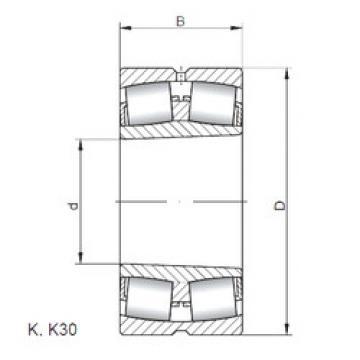 Rodamientos 23268 KW33 ISO
