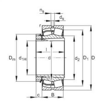 Rodamientos 23248-E1-K + H2348X FAG