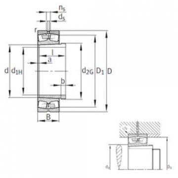 Rodamientos 23268-B-K-MB+AH3268G FAG