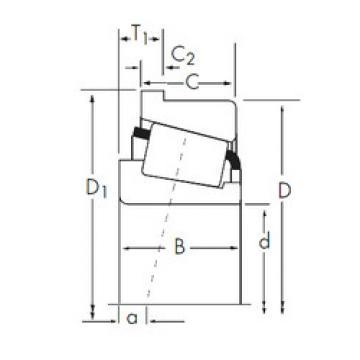 Rodamiento JP6049-JP6010-B Timken