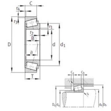 Rodamiento KJHM522649-JHM522610 FAG